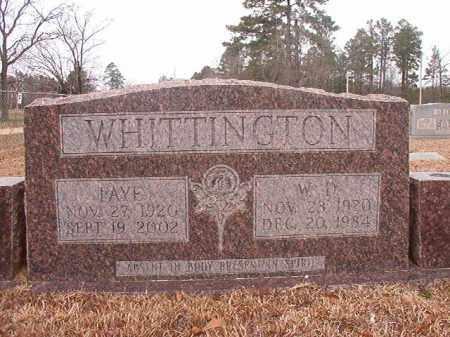 WHITTINGTON, W D - Calhoun County, Arkansas | W D WHITTINGTON - Arkansas Gravestone Photos