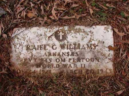 WILLIAMS (VETERAN WWII), RAIFE G - Calhoun County, Arkansas | RAIFE G WILLIAMS (VETERAN WWII) - Arkansas Gravestone Photos