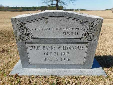 BANKS WILLOUGHBY, ETHEL - Calhoun County, Arkansas   ETHEL BANKS WILLOUGHBY - Arkansas Gravestone Photos