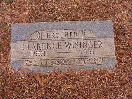 WISINGER, CLARENCE - Calhoun County, Arkansas   CLARENCE WISINGER - Arkansas Gravestone Photos
