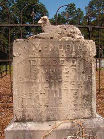 WISINGER, CLYDE D - Calhoun County, Arkansas   CLYDE D WISINGER - Arkansas Gravestone Photos