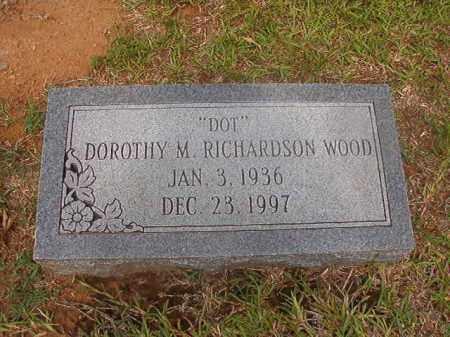 RICHARDSON WOOD, DOROTHY M - Calhoun County, Arkansas | DOROTHY M RICHARDSON WOOD - Arkansas Gravestone Photos
