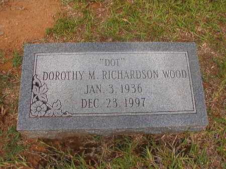 WOOD, DOROTHY M - Calhoun County, Arkansas   DOROTHY M WOOD - Arkansas Gravestone Photos