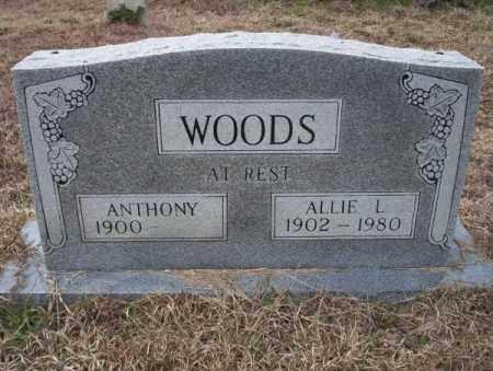 WOODS, ALLIE L - Calhoun County, Arkansas   ALLIE L WOODS - Arkansas Gravestone Photos