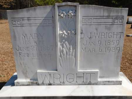 WRIGHT, D J - Calhoun County, Arkansas | D J WRIGHT - Arkansas Gravestone Photos