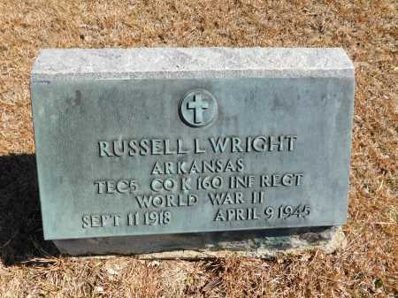 WRIGHT (VETERAN WWII), RUSSELL L - Calhoun County, Arkansas | RUSSELL L WRIGHT (VETERAN WWII) - Arkansas Gravestone Photos