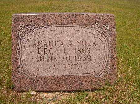 YORK, AMANDA A - Calhoun County, Arkansas | AMANDA A YORK - Arkansas Gravestone Photos