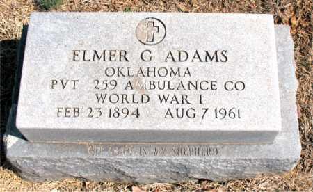 ADAMS (VETERAN WWI), ELMER G - Carroll County, Arkansas | ELMER G ADAMS (VETERAN WWI) - Arkansas Gravestone Photos