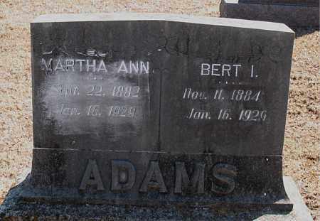 ADAMS, BERT I. - Carroll County, Arkansas | BERT I. ADAMS - Arkansas Gravestone Photos