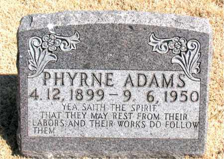 ADAMS, PHYRNE - Carroll County, Arkansas | PHYRNE ADAMS - Arkansas Gravestone Photos