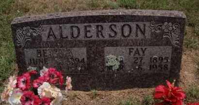 ALDERSON, FAY - Carroll County, Arkansas | FAY ALDERSON - Arkansas Gravestone Photos