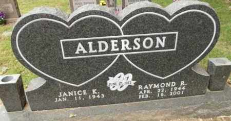 ALDERSON, RAYMOND R - Carroll County, Arkansas | RAYMOND R ALDERSON - Arkansas Gravestone Photos
