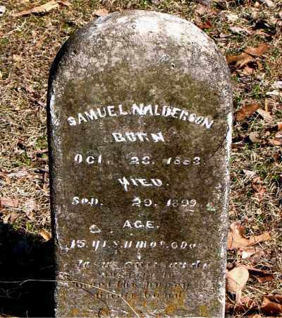 ALDERSON, SAMUEL N. - Carroll County, Arkansas | SAMUEL N. ALDERSON - Arkansas Gravestone Photos