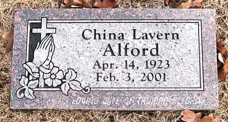 ALFORD, CHINA  LAVERN - Carroll County, Arkansas | CHINA  LAVERN ALFORD - Arkansas Gravestone Photos