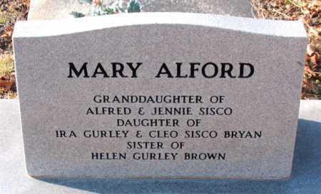 ALFORD, MARY - Carroll County, Arkansas | MARY ALFORD - Arkansas Gravestone Photos