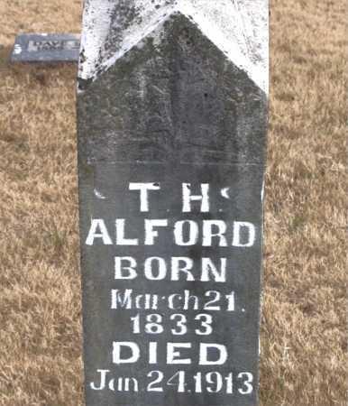 ALFORD, T.  H. - Carroll County, Arkansas | T.  H. ALFORD - Arkansas Gravestone Photos
