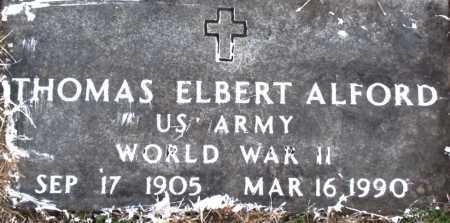 ALFORD (VETERAN WWII), THOMAS ELBERT - Carroll County, Arkansas | THOMAS ELBERT ALFORD (VETERAN WWII) - Arkansas Gravestone Photos