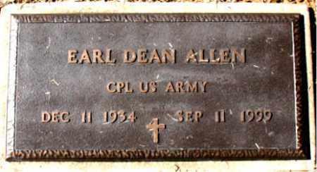 ALLEN (VETERAN), EARL DEAN - Carroll County, Arkansas   EARL DEAN ALLEN (VETERAN) - Arkansas Gravestone Photos
