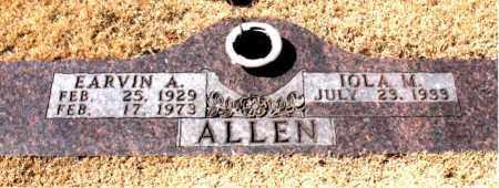 ALLEN, EARVIN  A. - Carroll County, Arkansas   EARVIN  A. ALLEN - Arkansas Gravestone Photos