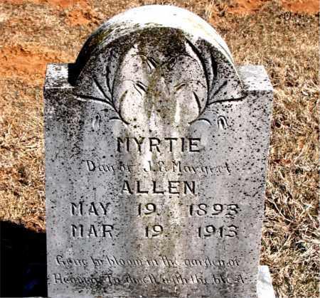 ALLEN, MYRTIE - Carroll County, Arkansas   MYRTIE ALLEN - Arkansas Gravestone Photos