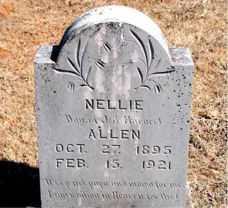 ALLEN, NELLIE - Carroll County, Arkansas   NELLIE ALLEN - Arkansas Gravestone Photos