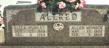 ALLRED, ALLEN MONROE - Carroll County, Arkansas | ALLEN MONROE ALLRED - Arkansas Gravestone Photos