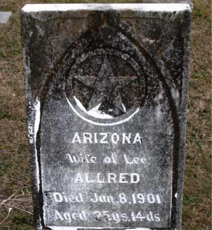 ALLRED, ARIZONA - Carroll County, Arkansas | ARIZONA ALLRED - Arkansas Gravestone Photos
