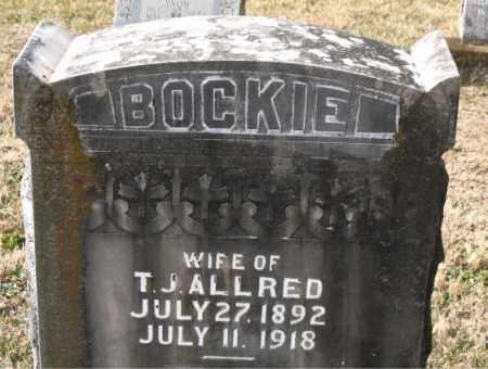 ALLRED, BOCKIE - Carroll County, Arkansas | BOCKIE ALLRED - Arkansas Gravestone Photos