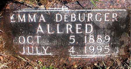 DEBURGER ALLRED, EMMA - Carroll County, Arkansas | EMMA DEBURGER ALLRED - Arkansas Gravestone Photos