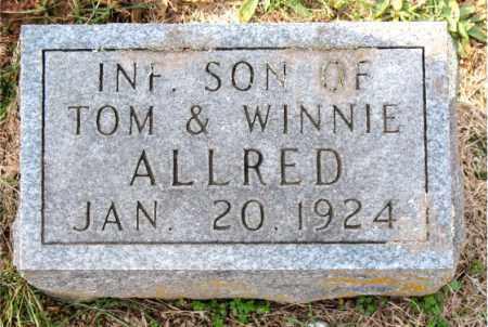 ALLRED, INFANT SON - Carroll County, Arkansas | INFANT SON ALLRED - Arkansas Gravestone Photos