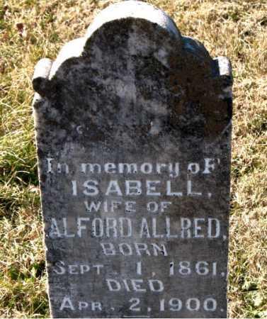 ALLRED, ISABELL - Carroll County, Arkansas | ISABELL ALLRED - Arkansas Gravestone Photos