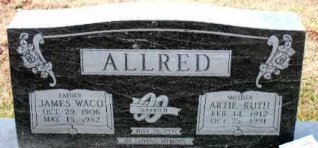 ALLRED, JAMES WACO - Carroll County, Arkansas | JAMES WACO ALLRED - Arkansas Gravestone Photos