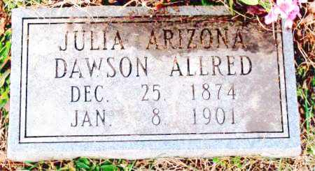 DAWSON ALLRED, JULIA ARIZONA - Carroll County, Arkansas | JULIA ARIZONA DAWSON ALLRED - Arkansas Gravestone Photos