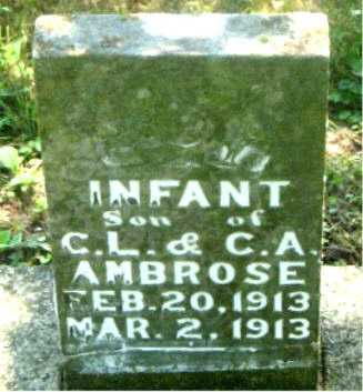 AMBROSE, INFANT SON - Carroll County, Arkansas | INFANT SON AMBROSE - Arkansas Gravestone Photos