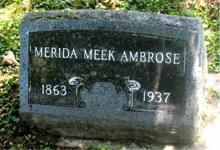 MEEK AMBROSE, MERIDA - Carroll County, Arkansas | MERIDA MEEK AMBROSE - Arkansas Gravestone Photos