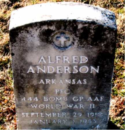 ANDERSON  (VETERAN WWII), ALFRED - Carroll County, Arkansas | ALFRED ANDERSON  (VETERAN WWII) - Arkansas Gravestone Photos