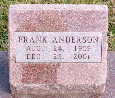 ANDERSON, FRANK - Carroll County, Arkansas   FRANK ANDERSON - Arkansas Gravestone Photos