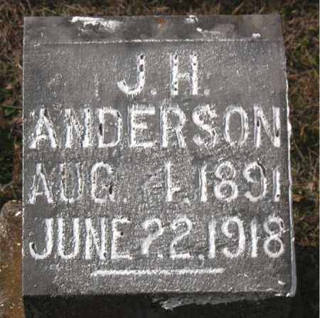 ANDERSON, J. H. - Carroll County, Arkansas | J. H. ANDERSON - Arkansas Gravestone Photos
