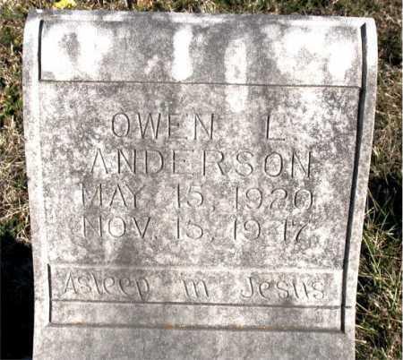 ANDERSON, OWEN L. - Carroll County, Arkansas   OWEN L. ANDERSON - Arkansas Gravestone Photos