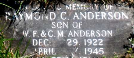 ANDERSON, RAYMOND C. - Carroll County, Arkansas | RAYMOND C. ANDERSON - Arkansas Gravestone Photos