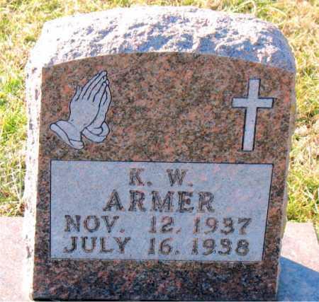 ARMER, K. W. - Carroll County, Arkansas | K. W. ARMER - Arkansas Gravestone Photos