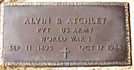 ATCHLEY (VETERAN WWI), ALVIN B - Carroll County, Arkansas   ALVIN B ATCHLEY (VETERAN WWI) - Arkansas Gravestone Photos