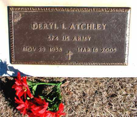 ATCHLEY (VETERAN), DERYL L - Carroll County, Arkansas   DERYL L ATCHLEY (VETERAN) - Arkansas Gravestone Photos