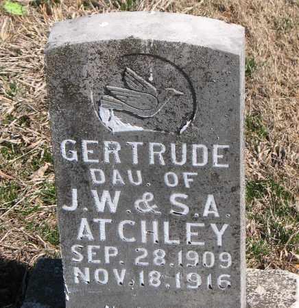 ATCHLEY, GERTRUDE - Carroll County, Arkansas | GERTRUDE ATCHLEY - Arkansas Gravestone Photos