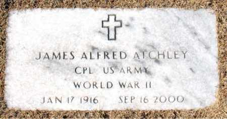 ATCHLEY (VETERAN WWII), JAMES ALFRED - Carroll County, Arkansas | JAMES ALFRED ATCHLEY (VETERAN WWII) - Arkansas Gravestone Photos