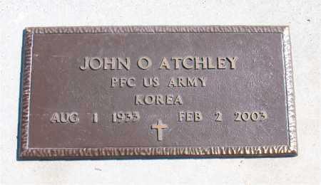 ATCHLEY (VETERAN KOR), JOHN O - Carroll County, Arkansas   JOHN O ATCHLEY (VETERAN KOR) - Arkansas Gravestone Photos