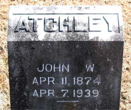 ATCHLEY, JOHN W. - Carroll County, Arkansas   JOHN W. ATCHLEY - Arkansas Gravestone Photos