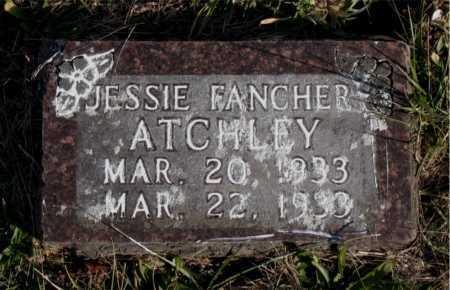 FANCHER ATCHLEY, JESSIE - Carroll County, Arkansas | JESSIE FANCHER ATCHLEY - Arkansas Gravestone Photos