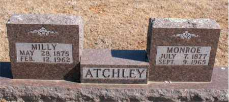 ATCHLEY, MONROE - Carroll County, Arkansas | MONROE ATCHLEY - Arkansas Gravestone Photos