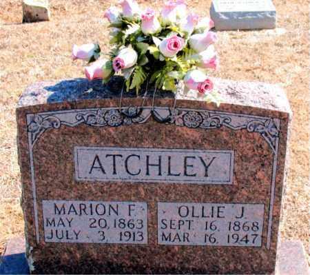 ATCHLEY, MARION F. - Carroll County, Arkansas   MARION F. ATCHLEY - Arkansas Gravestone Photos